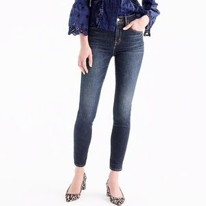 J crew 9 inch high rise solano toothpick jeans